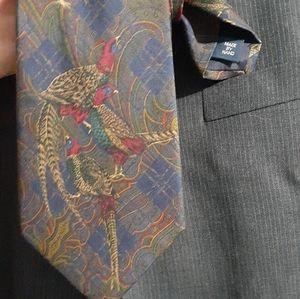 """Polo 54"""" Hand Made Silk Pheasant tie"""
